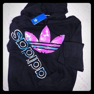 Women's Adidas black/Tie-dye hoodie size small